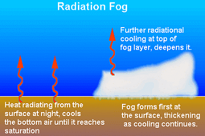 Causes and Formation of Advection, Radiation, Sea Smoke and ...